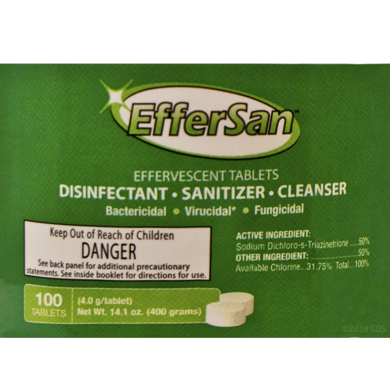 EfferSan 100-Count Jar Label