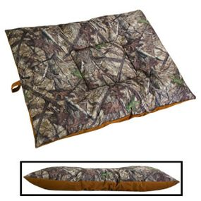 shop EXTRA LARGE Bizzy Beds® Dog Bed with Zipper -- True Timber HTC Camo / Brown Two-Tone