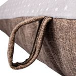 shop EXTRA LARGE Bizzy Beds Dog Bed -- Gray Stars/Brown Handle Detail
