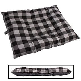 shop EXTRA LARGE Bizzy Beds® Dog Bed with Zipper -- Buffalo Black / Gray Two-Tone