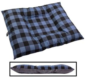 shop EXTRA LARGE Bizzy Beds™ Dog Bed with Zipper -- Buffalo Blue / Gray Two-Tone