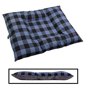 shop EXTRA LARGE Bizzy Beds® Dog Bed with Zipper -- Buffalo Blue / Gray Two-Tone