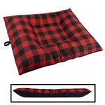 EXTRA LARGE Bizzy Beds® Dog Bed with Zipper -- Buffalo Red / Black Two-Tone
