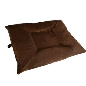 shop EXTRA LARGE Bizzy Beds™ Dog Bed with Zipper -- Chocolate