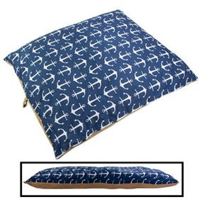 shop EXTRA LARGE Bizzy Beds™ Pillow Bed -- Blue Anchor / Tan Two-Tone