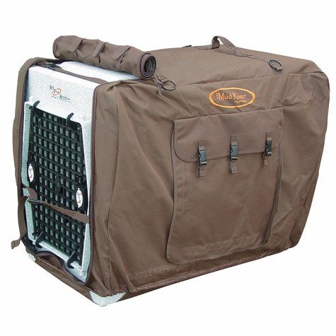 Extra Large Brown Bedford Uninsulated Kennel Cover By Mud