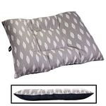shop BLOWOUT SALE -- EXTRA LARGE Limited Edition Bizzy Beds® Dog Bed -- Gray Feathers / Blue Two-Tone