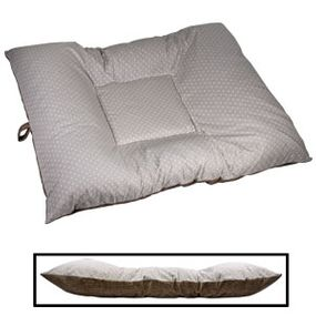 shop EXTRA LARGE Limited Edition Bizzy Beds® Dog Bed -- Gray Stars / Brown Two-Tone