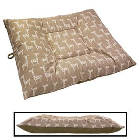 shop EXTRA LARGE Limited Edition Bizzy Beds® Dog Beds -- Giraffe / Olive Green Two-Tone