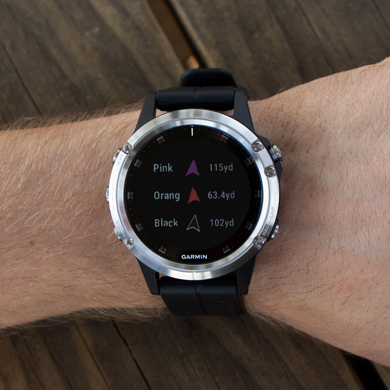 Garmin Fenix 5 PLUS Sapphire GPS Watch -- Black with Black Band