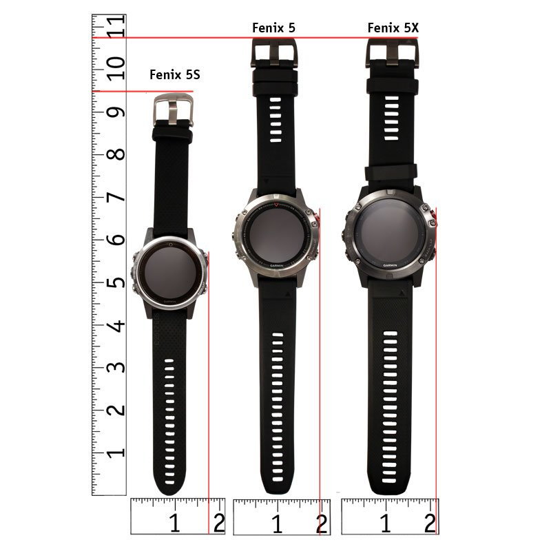 Fenix 5 Watch Size Chart