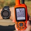 Fenix 5X PLUS Sapphire Watch Screen Detail w/ Astro - Orange on Point