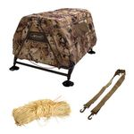 shop FieldHouse Dog Blind with Shoulder Strap and 1.25 lb. Invisi-Grass Bundle by MOmarsh