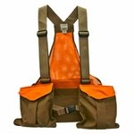 shop Filson Mesh Game Bag Vest  with Blaze Orange Trim