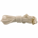 shop Firm Lay Nylon Check Cord -- White 7/16 in. x 30 ft.
