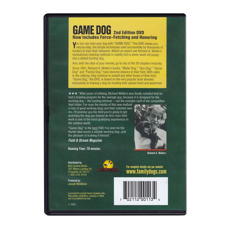 Game Dog DVD back