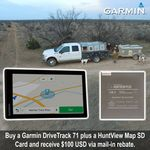 shop Garmin DriveTrack 71 PLUS HuntView Map $100 Mail-in Rebate
