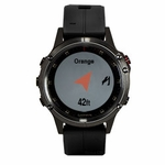 shop Garmin Fenix 5 PLUS Sapphire GPS Watch -- Black with Black Band