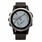 shop Garmin Fenix 5S PLUS GPS Watch -- Silver with Black Band