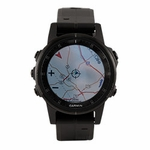 shop Garmin Fenix 5S PLUS Sapphire GPS Watch -- Black with Black Band