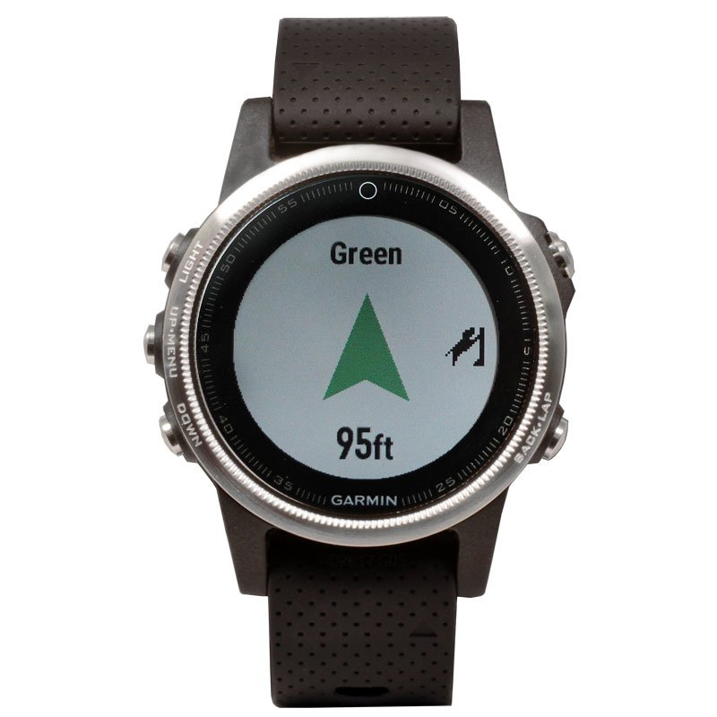 Garmin Fenix 5S GPS Watch -- Silver with Black Band