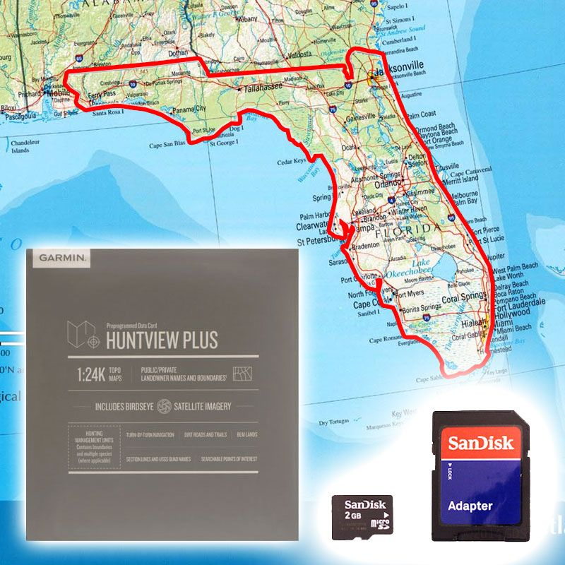 Garmin Huntview PLUS Map Card - Florida. $89.99. on i need a map ohio, western florida, jacksonville florida, the city of palmetto florida, zip codes by city in florida, i need a zip code map, i need a us map,