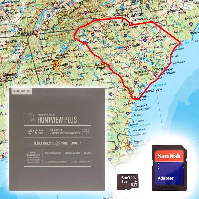 Garmin Huntview PLUS Map Card - South Carolina. $89.99.