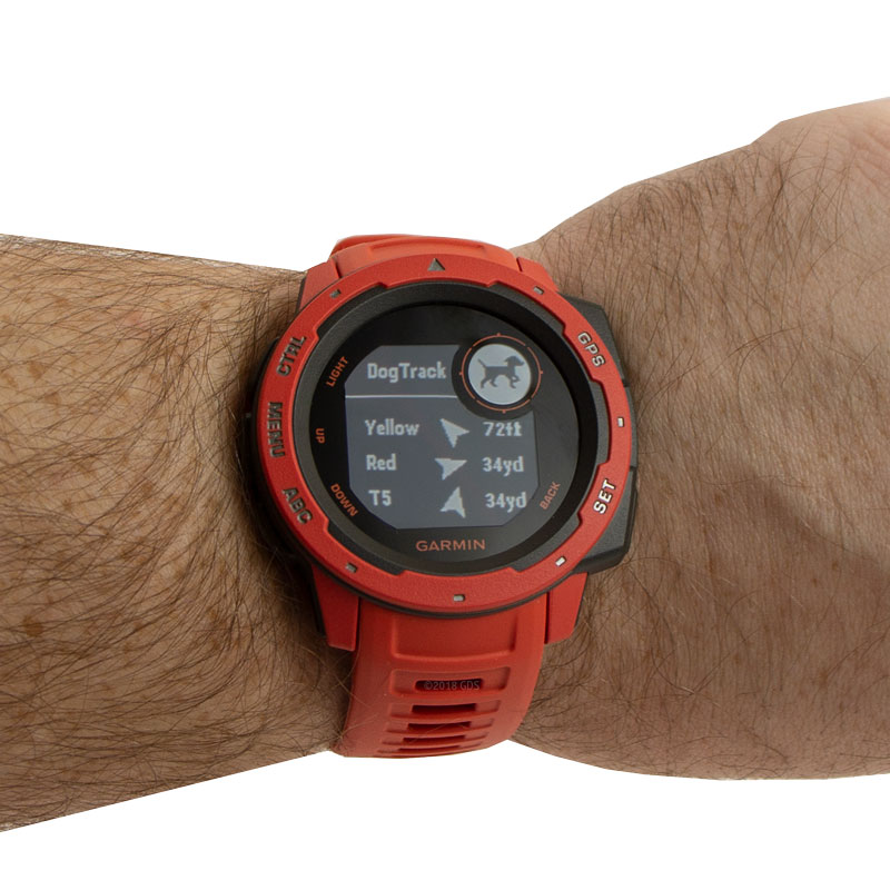 Garmin Instinct Flame Red Watch Detail