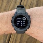 shop Garmin Instinct Graphite Watch Detail