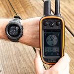 shop Garmin Instinct Graphite Watch Detail w/ Alpha Screen