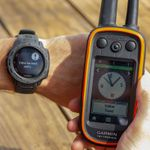 shop Garmin Instinct Graphite Watch Detail w/ Alpha - Yellow Treed