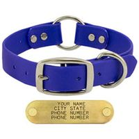 buy  Goose and Boone BLUE 1 in. TufFlex Center Ring Dog Collar