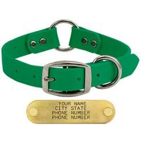 buy  Goose and Boone KELLY GREEN 1 in. TufFlex Center Ring Dog Collar