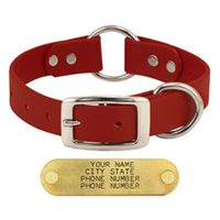 buy  Goose and Boone RED 1 in. TufFlex Center Ring Dog Collar