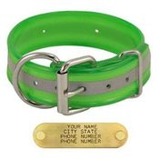 shop GREEN 1-1/2 in. Beaded Reflective D-End Dog Collar