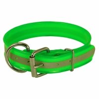 shop GREEN 1-1/2 in. Beaded Reflective Dee-End Dog Collar