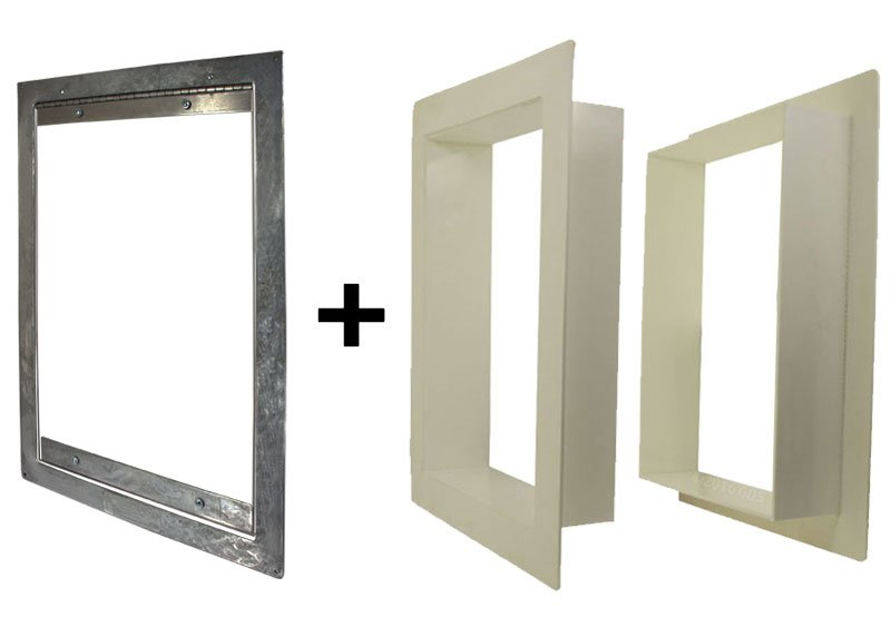 Gun Dog House Doors Easy Big Dog Door W Pvc Wall Trim Kit 23800