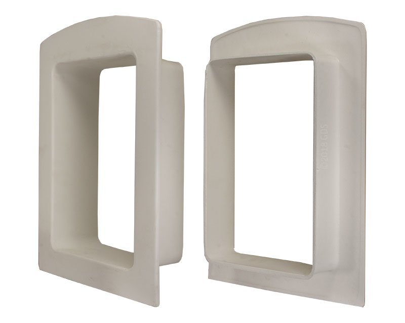 Gun Dog House Doors Pvc Wall Trim Kit For Small Heavy Duty Dog Door
