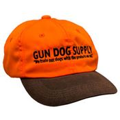 shop Gun Dog Supply Logo Cap -- Blaze Orange And Brown