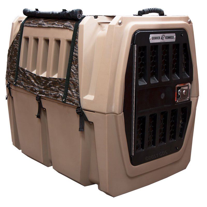 Gunner Kennels Camo Cold Weather Kit Front Flaps Open