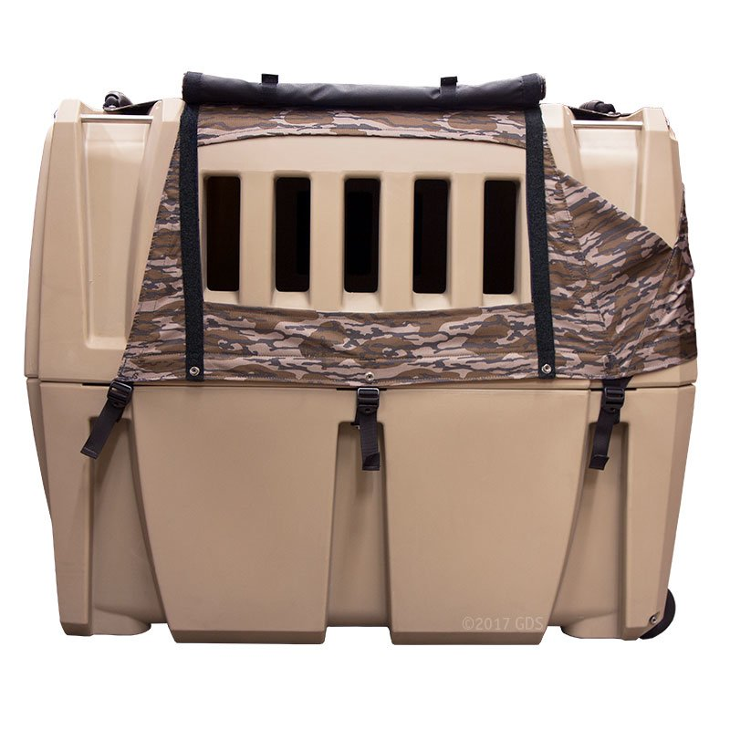 Gunner Kennels Camo Cold Weather Kit Right Side Flaps Open