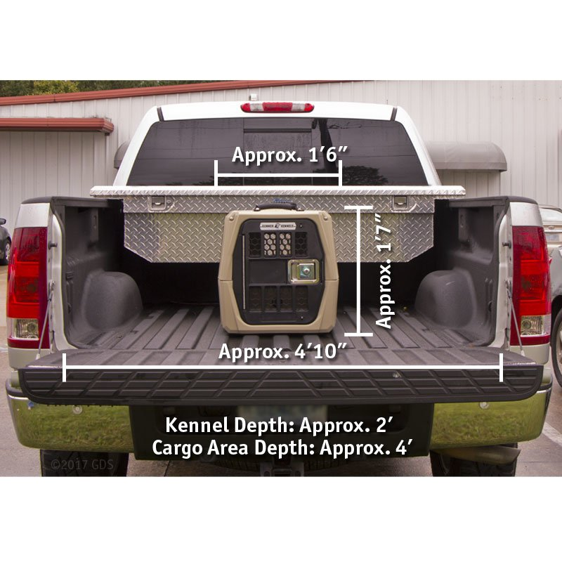 Gunner Kennels Small Dog Crate in Large Truck