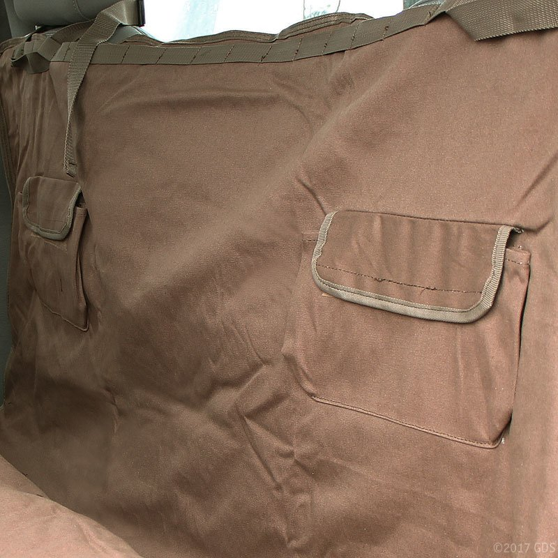 Hammock Seat Cover Pockets in Truck