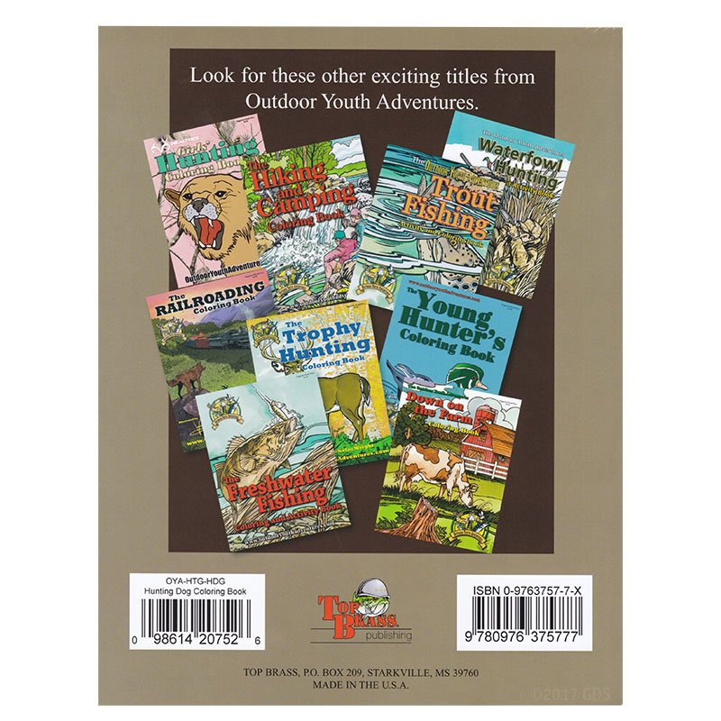 Hunting Dog Coloring Book back cover
