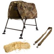 shop InvisiLAB Dog Blind and Stand with Shoulder Strap and 1.25 lb. Invisi-Grass Bundle by MOmarsh