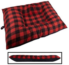 shop JUMBO Bizzy Beds™ Dog Bed -- Buffalo Red