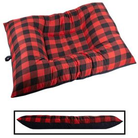 shop JUMBO Bizzy Beds™ Dog Bed -- Buffalo Red / Black Two-Tone