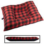 JUMBO Bizzy Beds™ Dog Bed -- Buffalo Red / Black Two-Tone