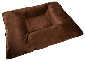 shop JUMBO Bizzy Beds™ Dog Bed with Zipper -- Brown
