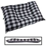 JUMBO Bizzy Beds® Dog Bed with Zipper -- Buffalo Black / Gray Two-Tone